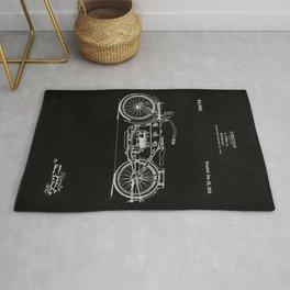 Motorcycle Blueprint 1919 Rug