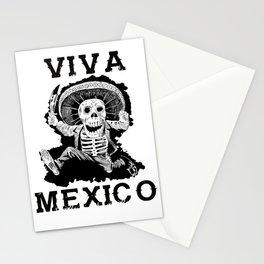 Viva Mexico Mad Dead Mariachi Stationery Cards