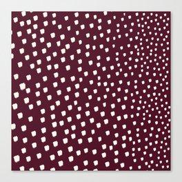white dotes Canvas Print