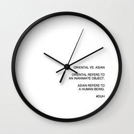 Oriental vs. Asian  Wall Clock