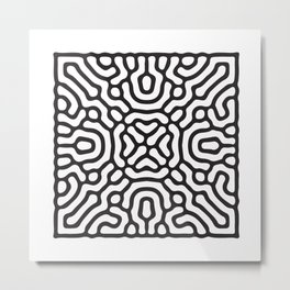 reaction diffusion pattern Metal Print