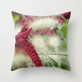 autumn begins Throw Pillow