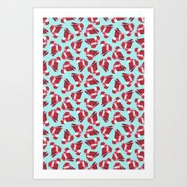 Red Gemstone Art Print