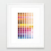 pantone Framed Art Prints featuring pantone by Natasha79