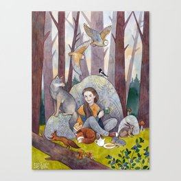 Tea in the Forest Canvas Print
