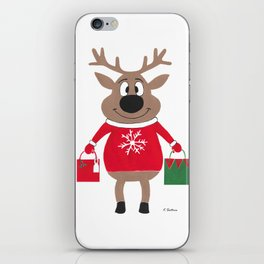 Merry Christmas Reindeer iPhone Skin