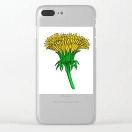 A Dandelion (Taraxacum officinale) Clear iPhone Case