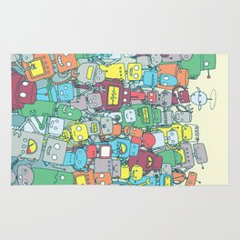 Robot Party Rug