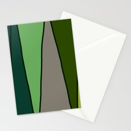 Green Abstract Pattern Turtle Stationery Cards