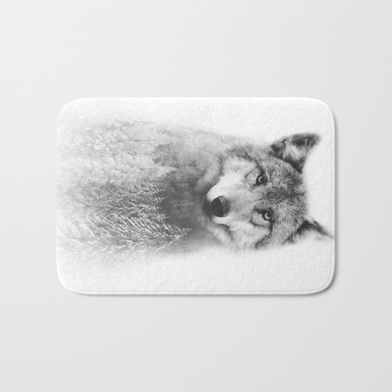 The Wolf and the Forest Bath Mat