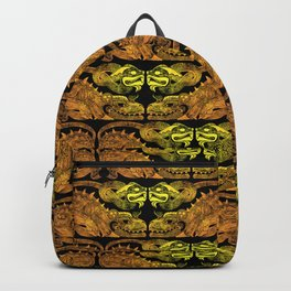 Golden two-headed dragon Backpack