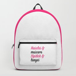 Muscles & Mascara Gym Quote Backpack