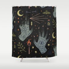 A Curse Upon You! Shower Curtain