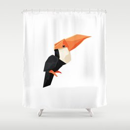 Origami Toucan Shower Curtain