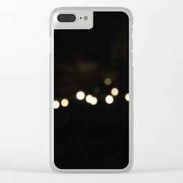 String Lights Bokeh Clear iPhone Case