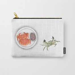 Watercolor Illustration | Chinese Cuisine | Hairy Crab | 大闸蟹 Carry-All Pouch
