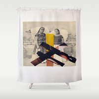 sisters Shower Curtains featuring Sisters by Mimi Rico