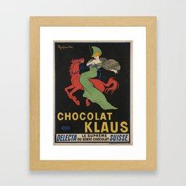 Vintage poster - Chocolat Klaus Framed Art Print