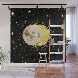 Imminent Eclipse Sun Moon & Stars Space Astronomy Cosmos Solar Lunar Wall Mural