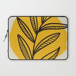 minimalist line art leaf print - art, interior, drawing, decor, design, bauhaus, abstract, decoratio Laptop Sleeve