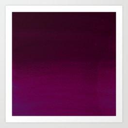 Hand painted pink burgundy watercolor gradient pattern Art Print