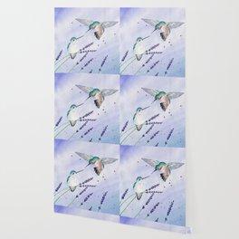Hummingbird Romance Wallpaper