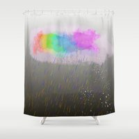 cloud Shower Curtains featuring cloud by WilliamFontana