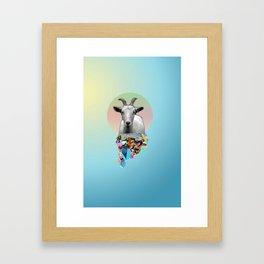 Titanium Goat Framed Art Print