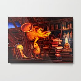 Mouse In The Magic Attic Metal Print