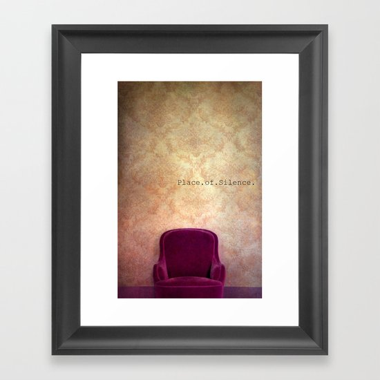 place of silence Framed Art Print