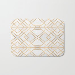 Golden Geo Bath Mat