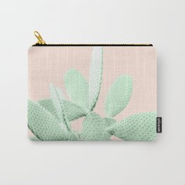 Green Blush Cactus #1 #plant #decor #art #society6 Carry-All Pouch