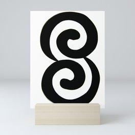 b&w twin harmony Mini Art Print