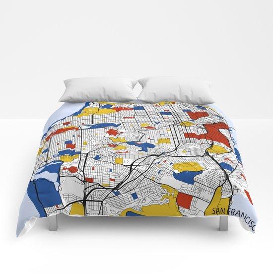 San Francisco Mondrian Comforters