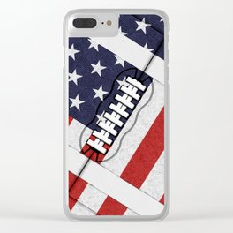 4th of July American Football Fanatic Clear iPhone Case
