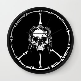 dead flower vampire power Wall Clock