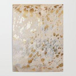 Gold Hide Print Metallic Poster
