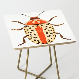 White and Orange Beetle Side Table