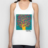 keith haring Tank Tops featuring Keith Haring: The Tree of Monkeys by cvrcak