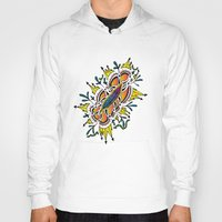 zentangle Hoodies featuring Zentangle #2b by ShaMiLa