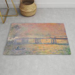 Charing Cross Bridge (Saint Louis), Claude Monet Rug