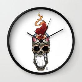 Magnet Burn Skull Wall Clock