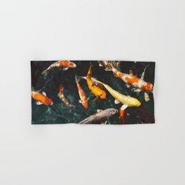 Geometric Koi Fishes Hand & Bath Towel