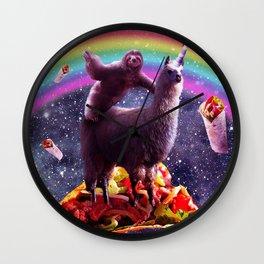 Sloth Riding Llama Wall Clock
