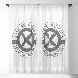 Xavier's School Sheer Curtain