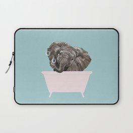 Baby Elephant in Bathtub Laptop Sleeve