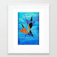ninja Framed Art Prints featuring Ninja by takingachancexo