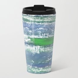 Green Blue clouded wash drawing design Travel Mug
