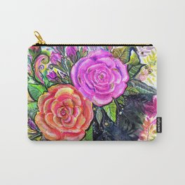 painting roses makes me EUPHORIC! Carry-All Pouch