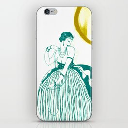Vintage Fashionable Art Deco Woman with Jewelry iPhone Skin